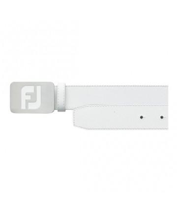 FootJoy pásek, kožený, Bílý